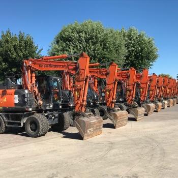 Beautiful range of wheeled excavators of Van den Berghe nv