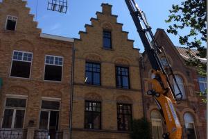 Effer 955 Roofcrane voor Dakwerken Crombez