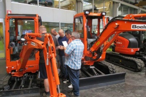 Opleiding machinisten Kubota mini-graafmachines