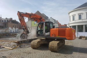 Dufour sloopt gewapende betonnen fundatie in recordtijd