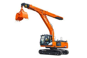 Hitachi unveils new ZX210LC-6 telescopic arm excavator