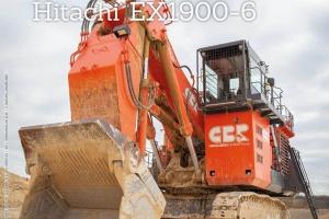 Uren op de teller: HITACHI EX1900-6 CBR