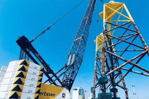 Two HSC cable cranes SCX2800 for Aertssen Machinery Services UAE