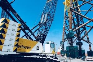 Twee HSC kabelkranen SCX2800 voor Aertssen Machinery Services UAE