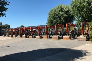 Beautiful range of wheeled excavators of Van den Berghe nv