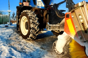 Winter service City of Antwerp with 13 New Holland tractors