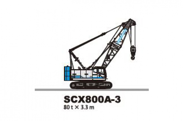 7t/22.4mm - Lifting capacity: 80 x 3.3 t x m