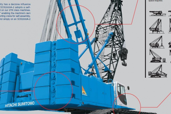Lifting capacity: 200 x 4.6 t x m