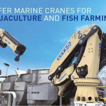 """Une nouvelle grue """"Marine"""" pour l'aquaculture et la pisciculture"""