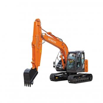 Hitachi présente la pelle à bras coulissant ZX135US-6