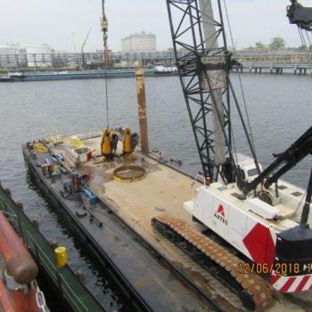 Deux nouvelles grues marine 220M-6S Effer pour notre client Oiltanking Stolthaven Antwerp