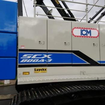 Grue à cable 80 tonnes pour ICM