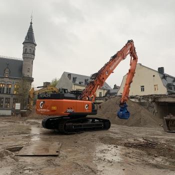 Nouvelle pelle de démolition HITACHI ZX350LCH-6 avec un bras de démolition de 23 mètres pour Roger Gehlen