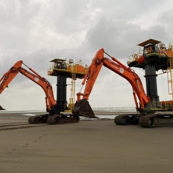 Jan De Nul zet drie ZX870 Starfish in voor bouw windmolenpark in Taiwan