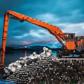 Lego® schaalmodel EX1900 SL 40 meter en EX1200-7 met 2-piece boom