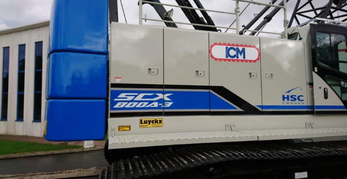 80 tons kabelkraan voor ICM