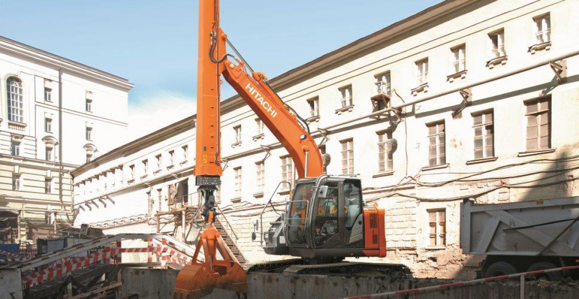 HITACHI presents smallest telescopic arm excavator
